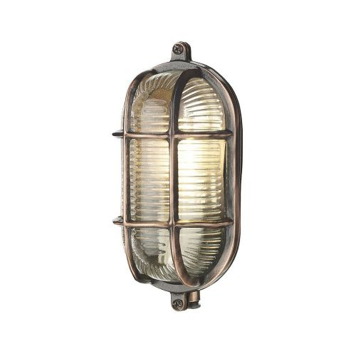 David Hunt Lighting, Admiral Small Oval Wall Antique Copper, ADM5264 (Hand made, 7-10 day Delivery)